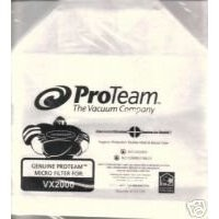 Free S/H - ProTeam VX2000 Micro Filter Vacuum Bags - Genuine - 5 Bags