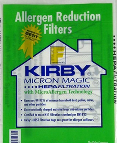 Free S/H - Kirby style F vacuum cleaner HEPA bags for 2009 Sentria Models # 197309  - Genuine - 6 Bags