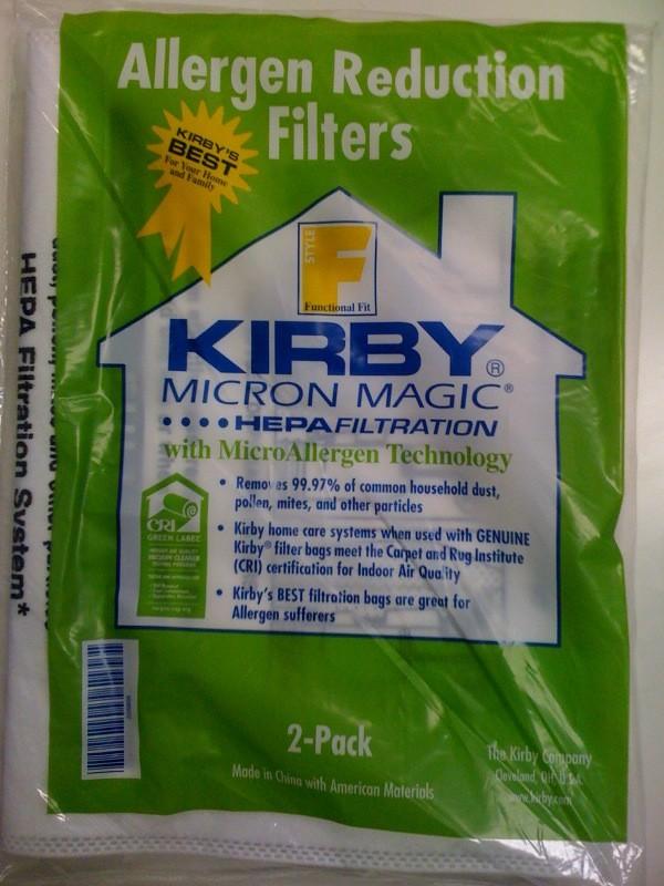 Free S/H - Kirby style F HEPA Micron Magic Sentria Vacuum #205808 - Genuine - 2 Bags