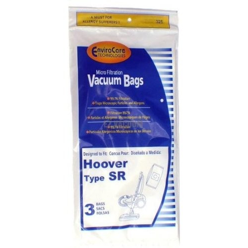 "Free S/H - Hoover ""SR"" Vacuum Bags for Duros / Canisters #401010SR- Generic - 3 bags"