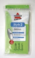 Free S/H - Bissell 32018 Style 2 Vacuum Cleaner Bags- Genuine - 3 Bags