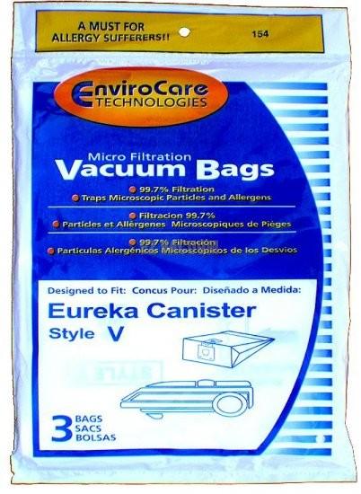 Free S/H - Eureka 57698A Style V Vacuum Bags - Generic - 3 Bags