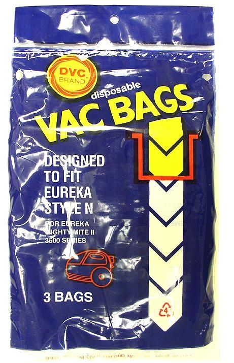 Free S/H - Eureka Style N Vacuum Bags - Generic - 3 bags