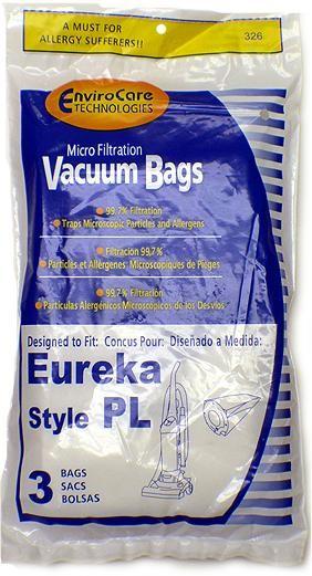 Free S/H - Eureka 62389 Style PL Upright Vacuum Bags - Generic - 3 Bags
