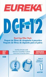 Free S/H - Eureka DCF12 Dust Cup Filter # 62729  -  Genuine