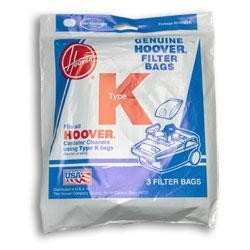 Hoover Type K Vacuum Bags # 4010028K - Genuine - 3 Bags