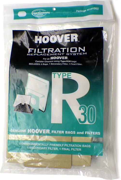 Hoover Type R30 Vacuum Bags # 40101002 - Genuine - 5 Bags + 2 Filters