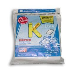 Hoover Type K Vacuum Bags # 4010100K - Genuine - 3 Bags