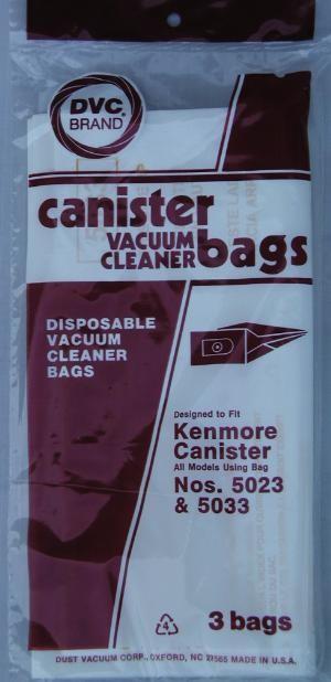 Free S/H - Kenmore 5023 vacuum cleaner bags - Generic - 3 Bags