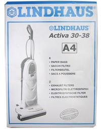 Free S/H - Lindhaus A4 Vacuum Bags - Genuine - 8 bags + 2 filters