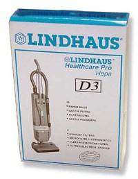 Free S/H - Lindhaus D3 Vacuum Bags - Genuine - 10 bags