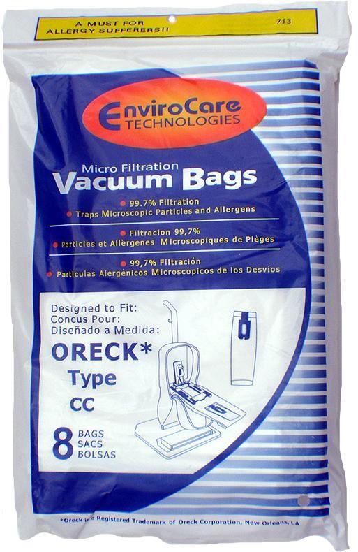 Free S/H - Oreck TYPE CC Odor Fighting Vacuum Bags # PK2008  - Generic - 8 Bags