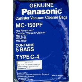 Free S/H - Panasonic Type C-4  Vacuum Bag #  MC-150PF - Genuine - 5 Bags