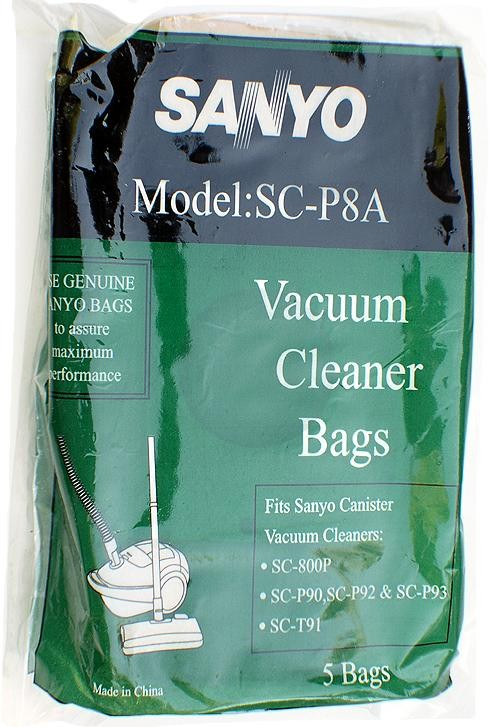 Free S/H - SANYO SC-P8A Canister Vacuum Bags - Genuine - 5 Bags