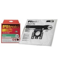 Free S/H - Miele Type F, J & M (FJM) Filtrete 3M Vacuum Cleaner Dustbags 5 Bags 2 Filters. Replaces Miele part #7291640