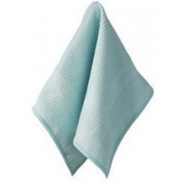 "Microfiber Cloth for Fine China and Crystal (Aqua) (12""W x 14""L)"