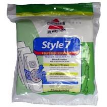 Bissell 30861Style 7 Enviro Fresh vacuum cleaner bags- Genuine - 3 Bags
