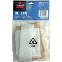 Free S/H - Bissell 32023 Butler vacuum cleaner bags- Genuine - 3 pack