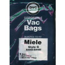 Free S/H - Miele Type G Vacuum Cleaner Bags - 5 Bags & 2 filter - Generic