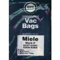 Free S/H - Miele Type H Vacuum Cleaner Bags - 5 Bags & 2 filter - Generic