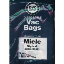 Free S/H - Miele Type J Vacuum Cleaner Bags - 5 Bags & 2 filter - Generic