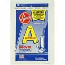 Hoover 4010100A Type A Allergen Vacuum Bag- Genuine - 3 Bags