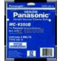Free S/H - Panasonic Type UB-9 Upright Vacuum Belts   #MC-V350B - Genuine - 2 Belts