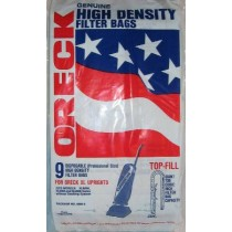 Free S/H - Oreck XL Bag High Density for Uprights  # PK80009 - Genuine - 9 Bags