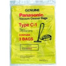 Free S/H - Panasonic Type C-1 vacuum cleaner bags # M-CV145M  - Genuine - 3 Bags