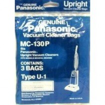 Free S/H - Panasonic Type U-1 vacuum cleaner bags  # MC-130PT - Genuine - 3 Bags