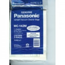Free S/H - Panasonic Type U7 Vacuum Bag # MC-142M - Genuine - 3 Bags