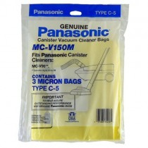 Free S/H - Panasonic 'Type C-5'  3 Micron vacuum cleaner bags  # MC-V150M - Genuine - 3 Bags