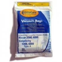Free S/H - Riccar C13 HEPA Filtration Bags # RHH-6 - Generic - 6 Bags