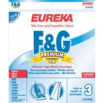 Free S/H - Sanitaire Style F&G Filteraire  Vacuum Bags #57695 -Genuine - 3 Bags