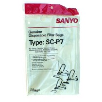 Free S/H - Sanyo  SC-P7  Cannister Vacuum Cleaner Bags - Genuine - 3 Bags