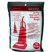 Free S/H - Sanyo  SC-PU1  Upright  Vacuum Cleaner Bags - Genuine - 10 Bags