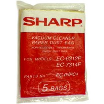 Free S/H - Sharp PC-4 Canister Vacuum Cleaner bags # EC-05PC4  - Genuine - 5 Bags