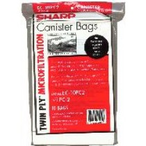 Free S/H - Sharp PC-2 Canister Vacuum Cleaner bags # EC-05PC4  - Genuine - 10 Bags
