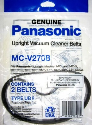 Free S/H - Belvedere MC-V270B Upright Vacuum Belts- Genuine - 2 Packs